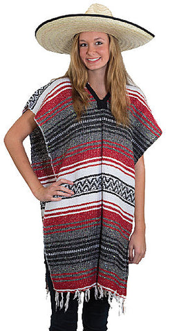 Mexican Poncho with fringe by Jacobson at Buffalo Breath Costumes