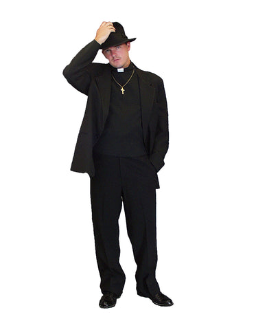 Exorcist Priest deluxe costume rental or purchase at Buffalo Breath Costumes in San Diego