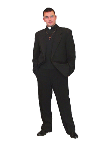 Priest deluxe costume rental or purchase at Buffalo Breath Costumes in San Diego