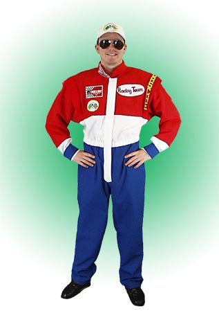 Racecar Driver costume rental in Theatrical Costumes from BuffaloBreath at Buffalo Breath Costumes in San Diego