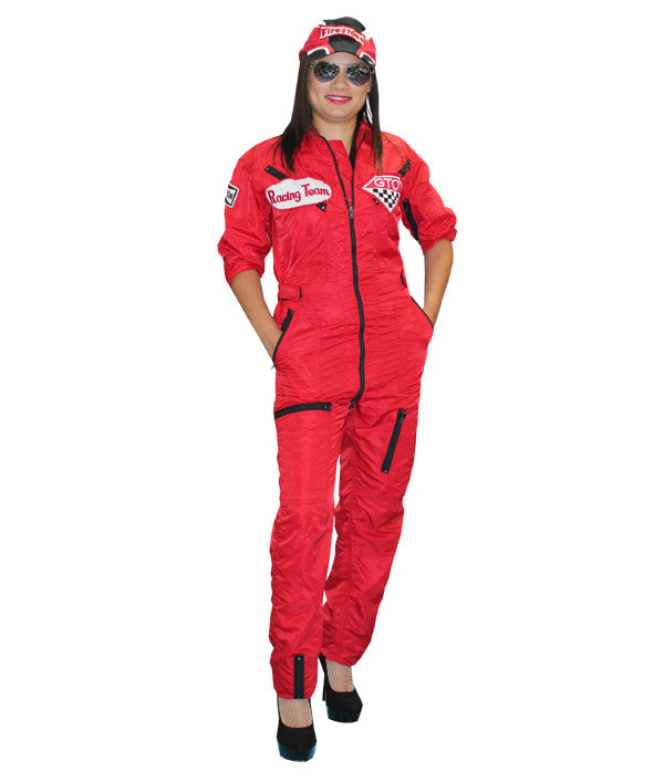 Racecar Driver (Red) in Theatrical Costumes from BuffaloBreath at Buffalo Breath Costumes