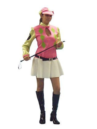 Female Jockey costume rental or purchase at Buffalo Breath Costumes in San Diego