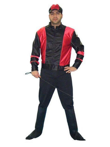 Jockey Red and Black Jacket in Theatrical Costumes from BuffaloBreath at Buffalo Breath Costumes