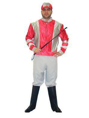Jockey Red and Silver Jacket in Theatrical Costumes from BuffaloBreath at Buffalo Breath Costumes