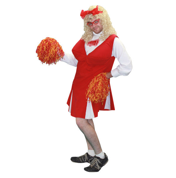 Comic Cheerleader in Theatrical Costumes from BuffaloBreath at Buffalo Breath Costumes