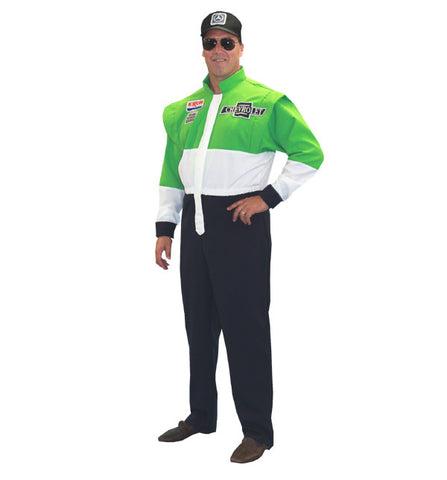 Racecar Driver (green) in Theatrical Costumes from BuffaloBreath at Buffalo Breath Costumes