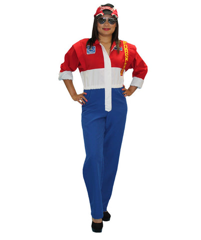 Female Racecar Driver sports costume rental or purchase at Buffalo Breath Costumes in San Diego