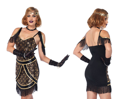 Speakeasy Sweetie 1920's flapper costume by Leg Avenue style 85545 at Buffalo Breath Costumes