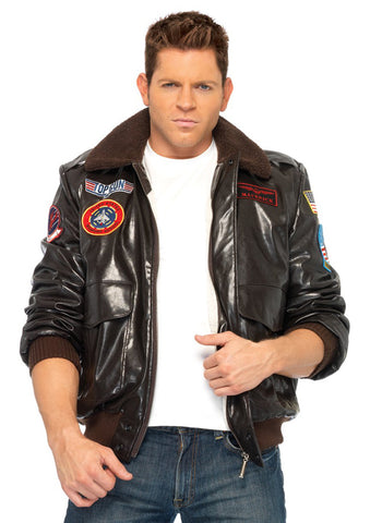 Top Gun Bomber Jacket by Leg Avenue TG83703 at Buffalo Breath Costumes in San Diego