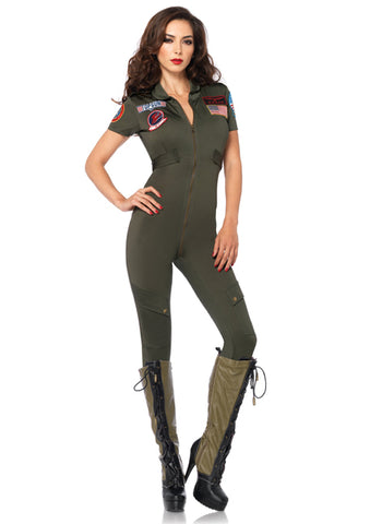 Top Gun Flight Suit military costume by Leg Avenue TG85267 at Buffalo Breath Costumes in San Diego