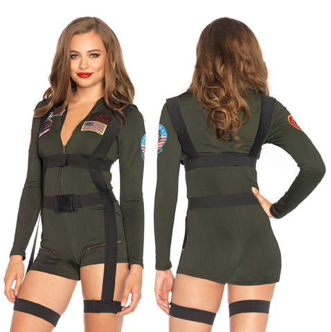 Top Gun Romper sexy military uniform costume by Leg Avenue at Buffalo Breath Costumes in San Diego