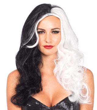 Two Tone Villain Wig by Leg Avenue #A2672 at Buffalo Breath Costumes