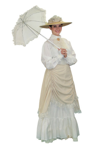 Gibson Girl Cream Accent Dress in Theatrical Costumes from BuffaloBreath at Buffalo Breath Costumes