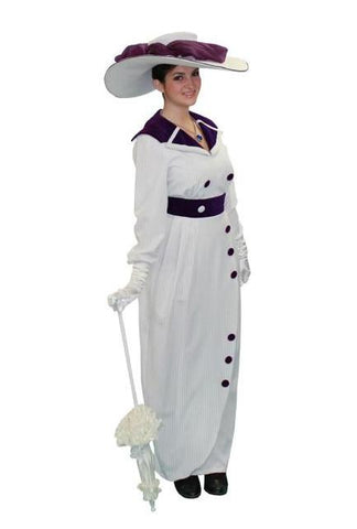 Titanic (purple/white) Dress costume rental at Buffalo Breath Costumes in San Diego