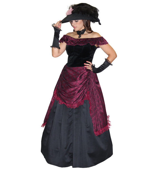 Victorian Evening (plum) in Theatrical Costumes from BuffaloBreath at Buffalo Breath Costumes