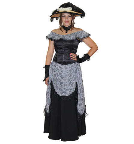 Black and Grey Gibson Girl in Theatrical Costumes from BuffaloBreath at Buffalo Breath Costumes