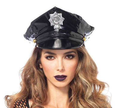 Vinyl Police Hat by Leg Avenue 3761 at Buffalo Breath Costumes