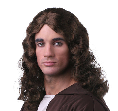 Jesus/Hippie Brown Wig in Accessories from WESTBAY at Buffalo Breath Costumes