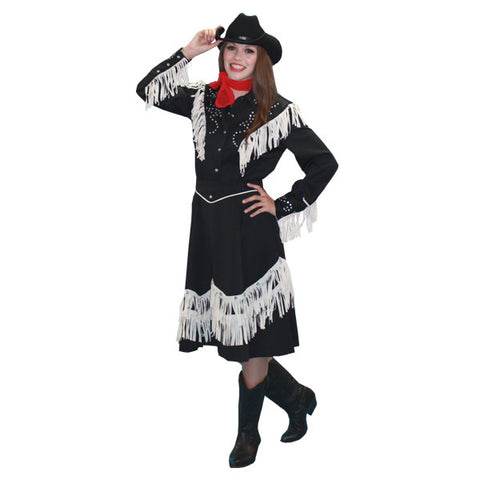 Cowgirl with Skirt and Rhinestone Jacket in Theatrical Costumes from BuffaloBreath at Buffalo Breath Costumes