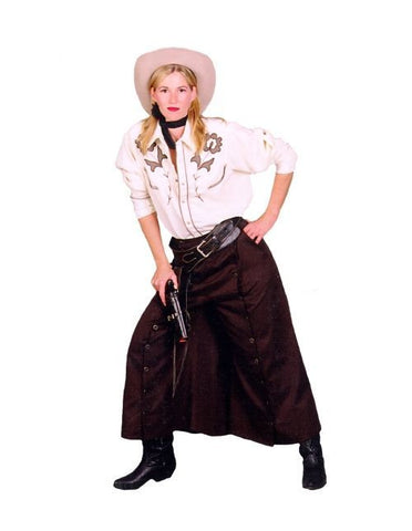 Western Cowgirl with Wahoo Skirt costume rental in Theatrical Costumes at Buffalo Breath Costumes in San Diego