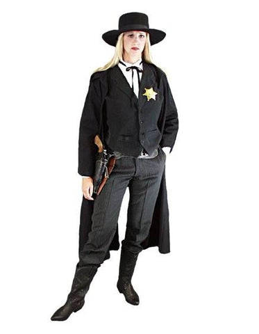 Female Gunslinger deluxe western sheriff costume for rental or purchase at Buffalo Breath Costumes