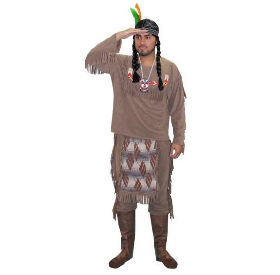Native American Brave in Theatrical Costumes from BuffaloBreath at Buffalo Breath Costumes