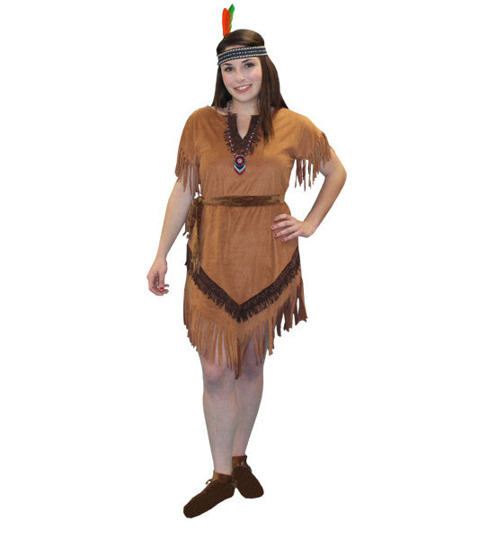Native American Princess Pocahontas Brown Dress
