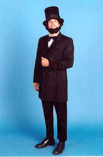 Abe Lincoln costume in Theatrical Costumes from BuffaloBreath at Buffalo Breath Costumes