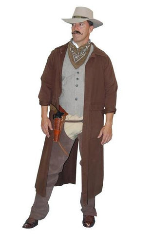 Brown Duster Cowboy in Theatrical Costumes from BuffaloBreath at Buffalo Breath Costumes