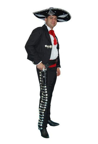 Mariachi (amigo) deluxe charro suit costume rental or purchase at Buffalo Breath Costumes in San Diego