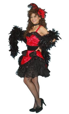 Saloon Gal (red w/black) in Theatrical Costumes from BuffaloBreath at Buffalo Breath Costumes