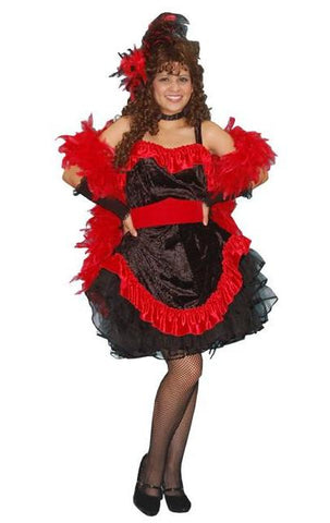 Saloon Gal (black w/red) in Theatrical Costumes from BuffaloBreath at Buffalo Breath Costumes