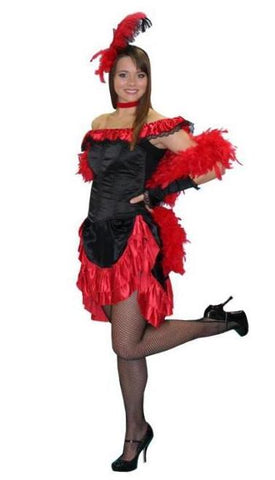 Saloon Gal (Corset Red) in Theatrical Costumes from BuffaloBreath at Buffalo Breath Costumes