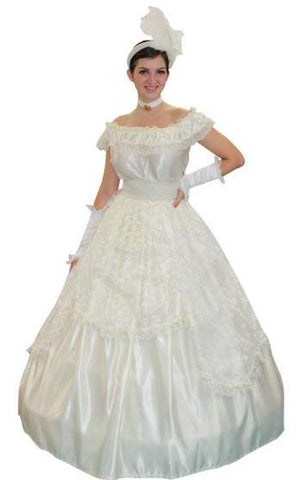 Southern Belle (cream ballgown in Theatrical Costumes from BuffaloBreath at Buffalo Breath Costumes
