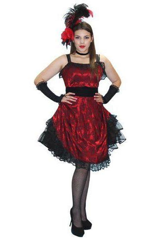 Saloon Gal / Moulin Rouge burlesque dancer deluxe costume rental or purchase at Buffalo Breath Costumes