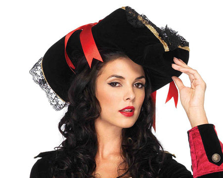 Women's Swashbuckler Hat by Leg Avenue 2098 at Buffalo Breath Costumes