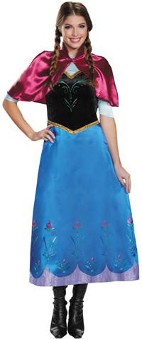 Disney Frozen Anna deluxe traveling suit costume by Disguise 83151 at Buffalo Breath Costumes