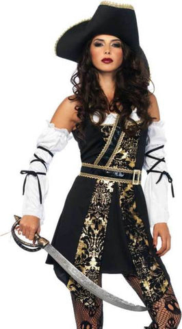 Black Sea Buccaneer pirate costume by Leg Avenue 85563 at Buffalo Breath Costumes