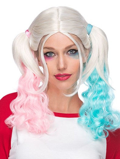 Carley Pink and Blue Ponytails Wig