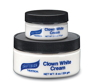 Clown White Cream by Graftobian Make-Up at Buffalo Breath Costumes