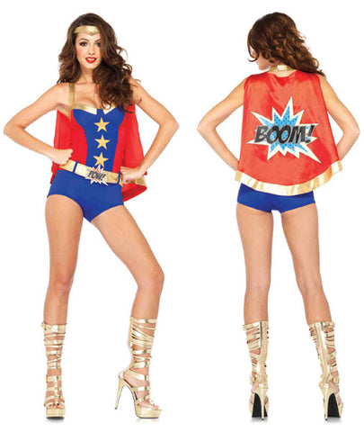 Comic Book Girl superhero costume by Leg Avenue at Buffalo Breath Costumes