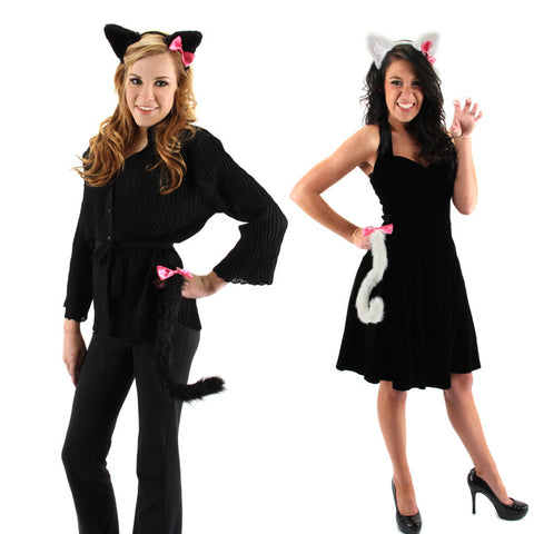 Cute Kitty Cat ears headband & tail kits at Buffalo Breath Costumes in San Diego