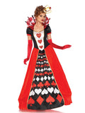 Deluxe Queen of Hearts costume Leg Avenue 85593 at Buffalo Breath Costumes