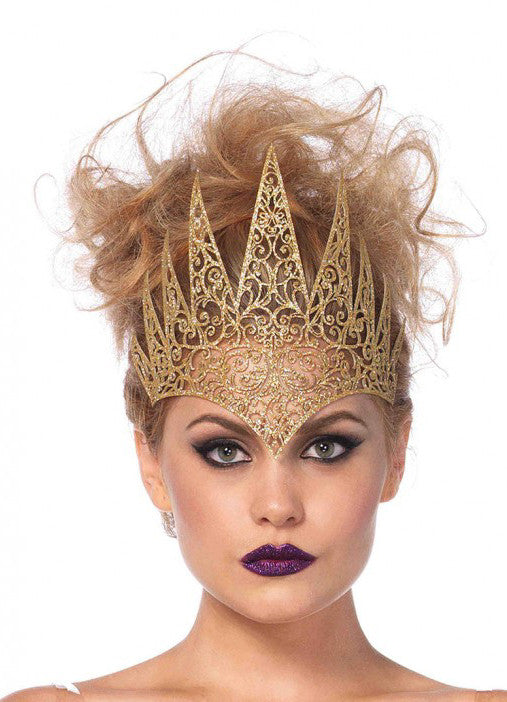 Die Cut Royal Crown in Gold by Leg Avenue 2154 at Buffalo Breath Costumes