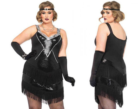 Glamour Flapper plus size 1920s costume by Leg Avenue 85474X at Buffalo Breath Costumes