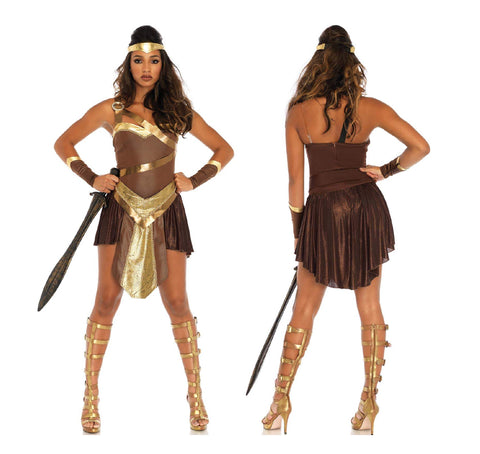 Golden Gladiator Amazon Wonder Woman costume by Leg Avenue 86671 at Buffalo Breath Costumes