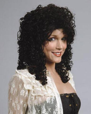 Kang Kang curly wig available in Black, Brown, or Blonde at Buffalo Breath Costumes in San Diego