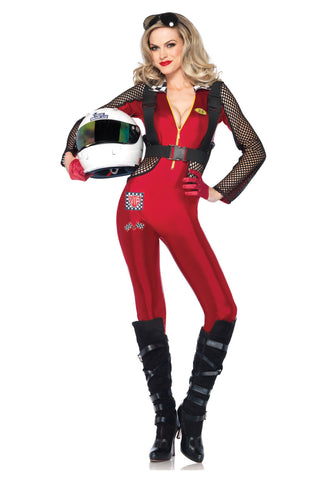 Pit Stop Penny sexy racecar driver costume by Leg Avenue at Buffalo Breath Costumes