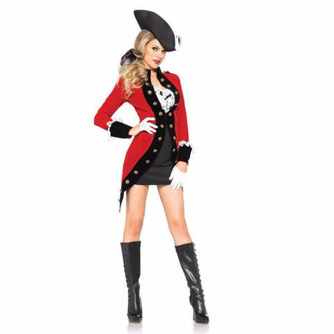 Rebel Red Coat costume by Leg Avenue