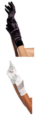 Satin Wrist Length Gloves by Leg Avenue at Buffalo Breath Costumes in San Diego